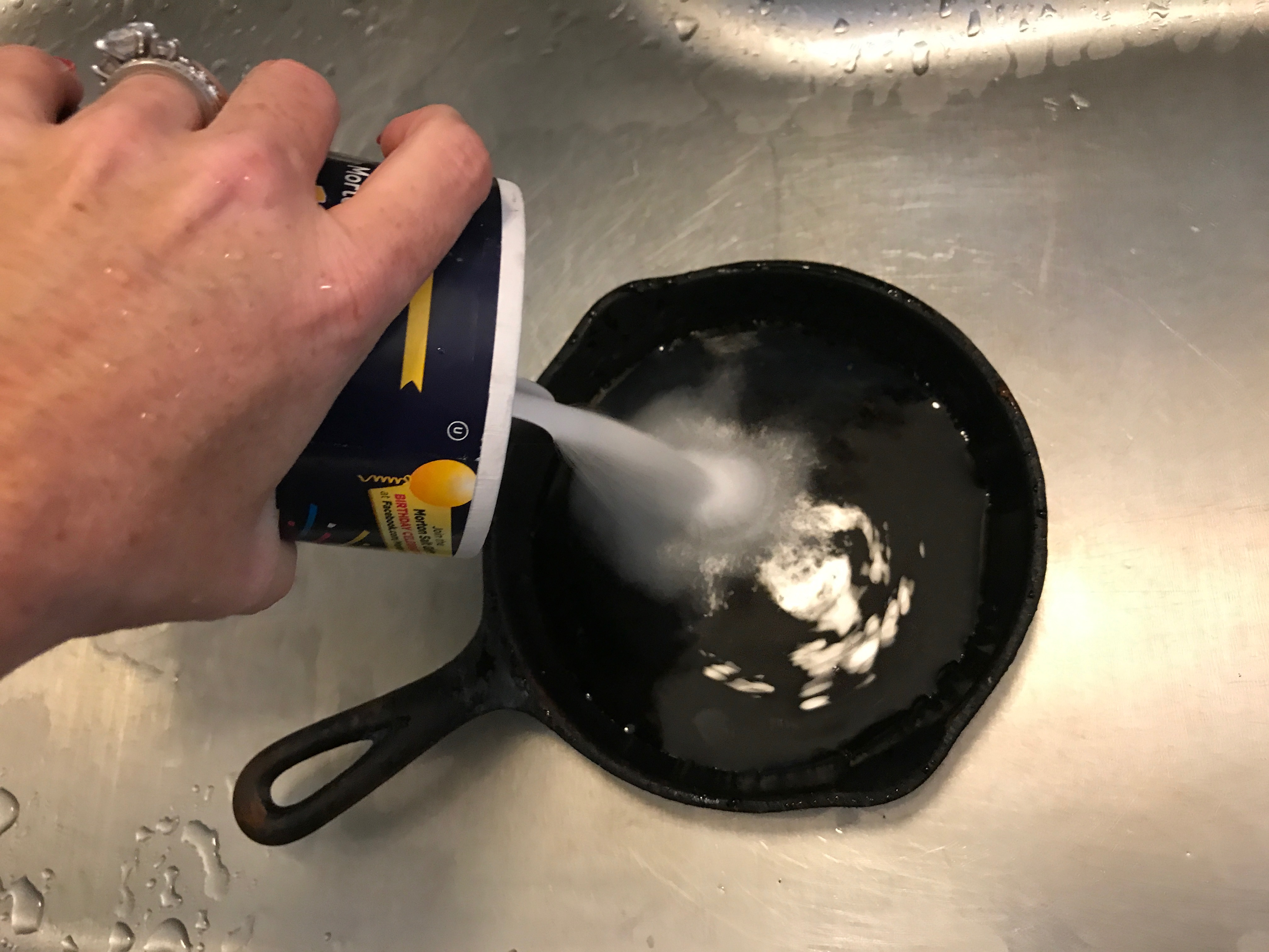 How To Clean And Season A Cast Iron Skillet Sandi Savage